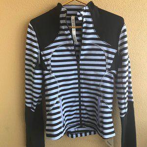 Lululemon Purple Striped Forme Jacket